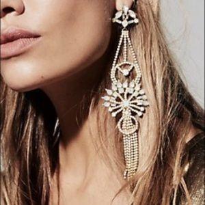 Free People Rhinestone Duster Earrings